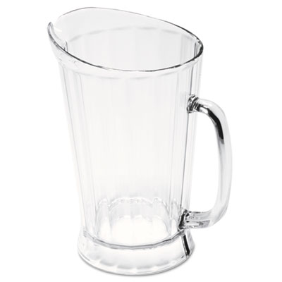 Bouncer II Plastic Pitcher, 60 oz, Clear