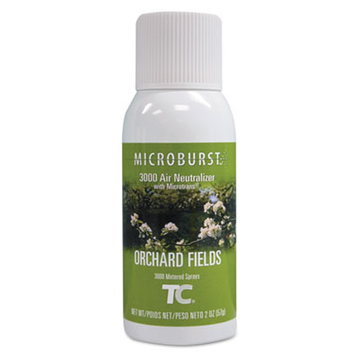 Microburst 3000 Refill, Orchard Fields, 2 oz Aerosol, 12/Carton