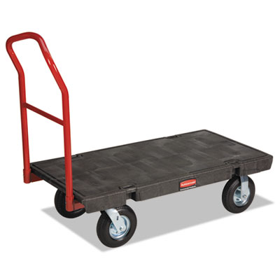 "Heavy-Duty Platform Truck Cart, 1200lb Capacity, 24"" x 48"" Platform, Black"