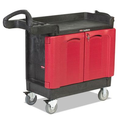 TradeMaster Cart, 500-lb Cap, Two-Shelf, 18-1/4w x 41-5/8d x 38-3/8h, Black