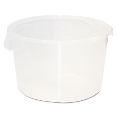Round Storage Containers, 12qt, 13 1/8dia x 8 1/8h, Clear