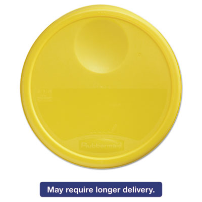Round Storage Container Lids, 13 1/2 dia x 2 3/4h, Yellow