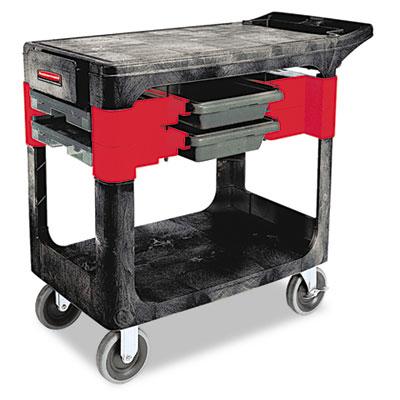Trades Cart, Two-Shelf, 19-1/4w x 38d x 33-3/8h, Black
