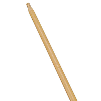 """Standard Threaded-Tip Broom/Sweep Handle, 54"""", 1-5/16""""Dia, Wood, Dozen"""