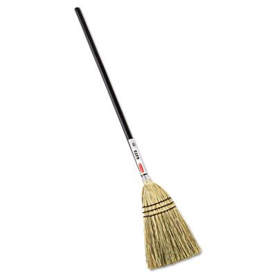"Lobby Corn-Fill Broom, 38"" Handle, Brown"