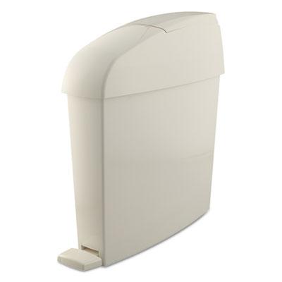 Sanitary Bin, Rectangular, Plastic, 3 gal, White