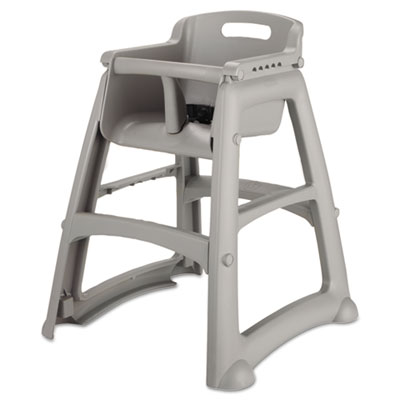 Sturdy Chair Youth Seat, Plastic, 23 3/8w x 23 1/2d x 29 3/4h, Platinum