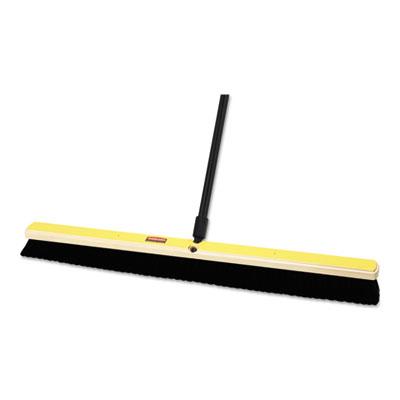 """Tampico-Bristle Medium Floor Sweep, 24""""Brush, 3""""Bristles, Black"""