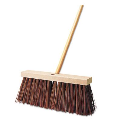 """Street Broom, Palmyra Fill, 6"""" Bristles, 16"""" Block"""