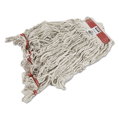 Swinger Loop Wet Mop Heads, Cotton/Synthetic, White, Large, 6/Carton