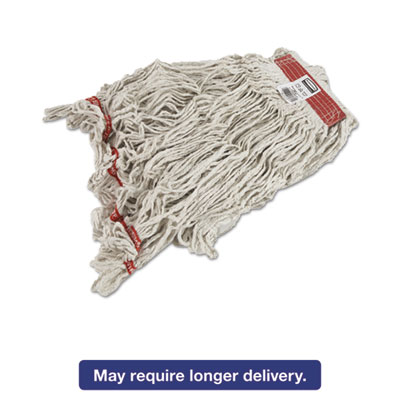 Swinger Loop Wet Mop Heads, Cotton/Synthetic, White, X-Large, 6/Carton