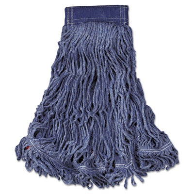 Swinger Loop Wet Mop Head, X-Large, Cotton/Synthetic, Blue, 6/Carton