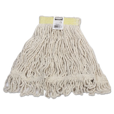 Super Stitch Blend Mop, Cotton/Synthetic, Small, White, 6/Carton