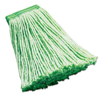 "Synthetic Wet Mop Heads, Green, 16 oz, 5"" Headband, 6/Carton"