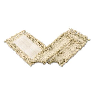 Cut-End Cotton Disposable Dust Mop, White, 36 x 5, 12/Carton