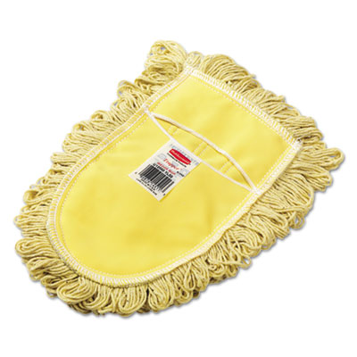 Trapper Wedge Dust Mop Head, Yellow, Looped-End, Cotton