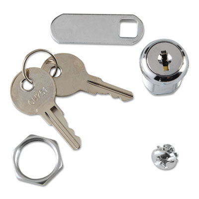 Replacement Lock & Key for Locking Janitor Cart Cabinet