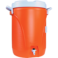 Rubbermaid 1840999  Heavy Duty Water Cooler, 5 gal, Polyethylene, Orange
