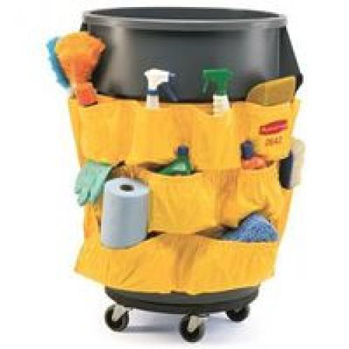 Rubbermaid 1913171 Heavy Duty Receptacle Caddy Bag, Vinyl, Yellow