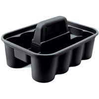 Rubbermaid FG315488BLA All Purpose Deluxe Carry Caddy, 15 in L x 10-7/8 in W x 7-3/8 in H, Plastic, Black