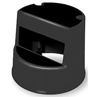Mobile 252300BLA 2-Step Step Stool, 13-1/2 in H, Heavy Duty Plastic, Black