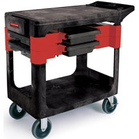 Rubbermaid FG618000BLA Trade Cart, 330 lb, Foam, Black