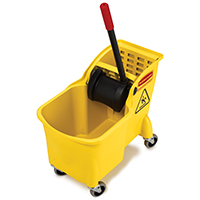 Rubbermaid FG738020YEL Tandem Bucket, 31 qt Capacity, 22.63 in L x 13-1/4 in W x 32-1/4 in H, Yellow