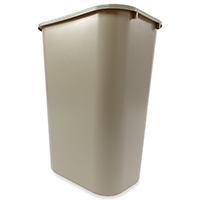Rubbermaid FG295700BEIG Indoor Utility Deskside Wastebasket, 41-1/4 qt 15-1/4 in L x 11 in W x 19-7/8 in D, Beige