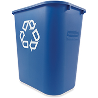 Rubbermaid FG295673BLUE Recycle Containers, Deskside, 28-1/8 Qt