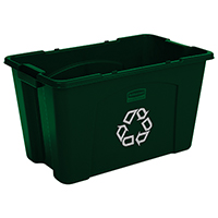 Rubbermaid FG571873GRN Utility Recycling Box, 18 gal 25-3/4 in L x 16 in W x 14-3/4 in D, Green