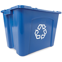 Rubbermaid FG571473BLUE Recycling Boxes, 14 Gal