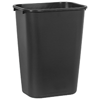 Rubbermaid FG295700BLA Wastebaskets, 15.2 x11x9.88 In L x W x H