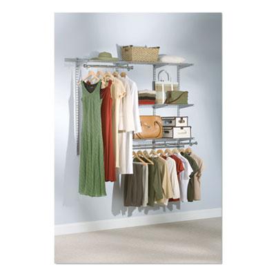 "Configurations Custom Closet Starter Kit, 5 Shelves, 36"" to 72""w x 16""d x 47.5""h, Titanium"
