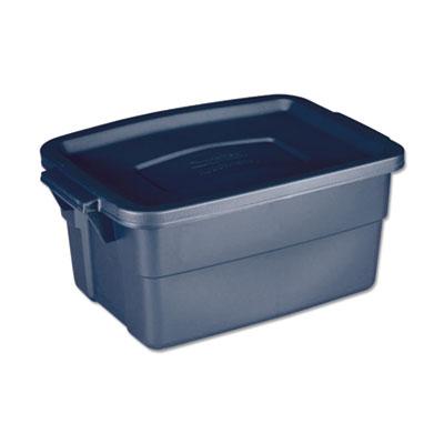 Roughneck Storage Box, 10 5/8w x 15.687d x 7h, Dark Indigo Metallic