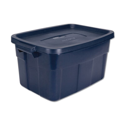 Roughneck Storage Box, 15 7/8w x 23 7/8d x 12 1/4h, Dark Indigo Metallic