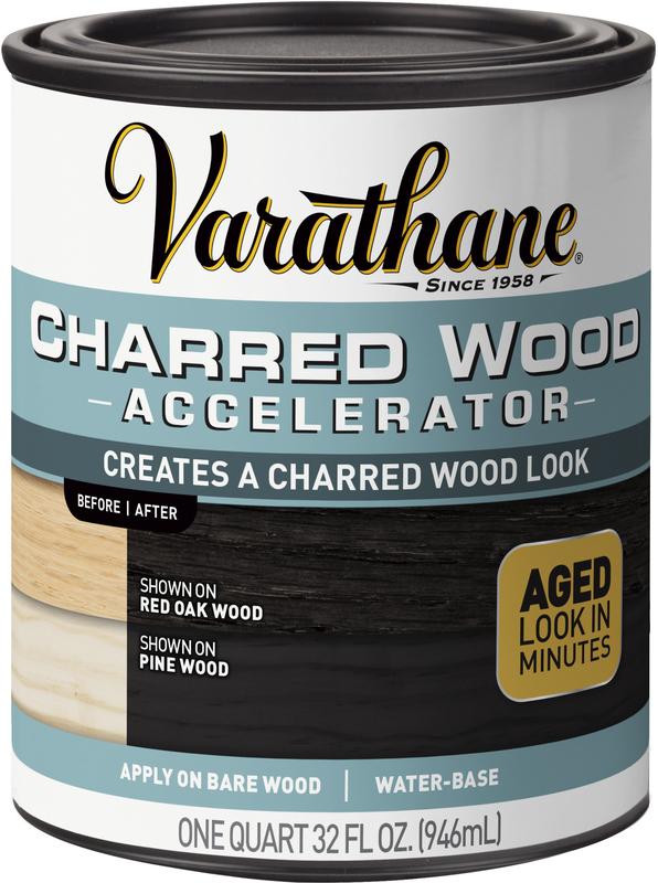 ACCELERATOR CHARRED WOOD 1QT