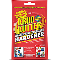 Krud Kutter PH3512 Waste Paint Hardener, 3.5 oz, Bag, Clear, Solid
