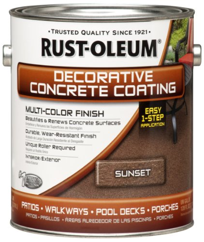 1-Gallon Decorative Concrete Coating Multi-Color Finish, Sunset