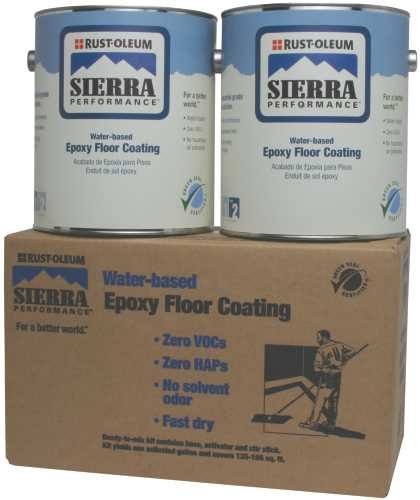 RUST-OLEUM� SIERRA PERFORMANCE� S40 SYSTEM 0 VOC WATER-BASED EPOXY FLOOR COATING KIT, GRAY, 1 GALLON