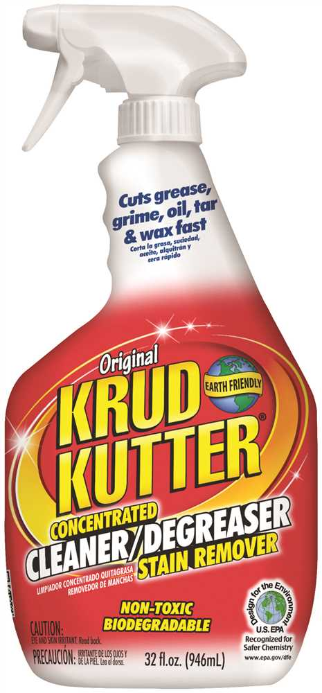 KRUD KUTTER� ORIGINAL CLEANER AND DEGREASER, CONCENTRATED, 32 OZ. SPRAY