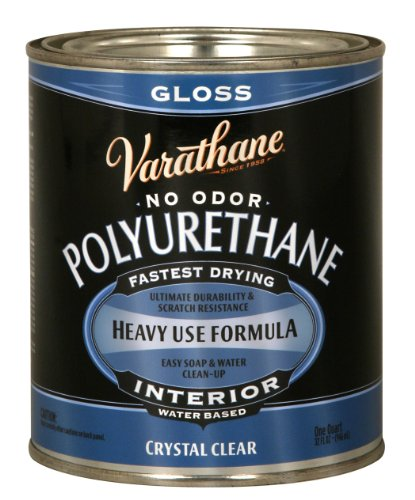 1-Quart Interior Crystal Clear Water-Based Poleurethane, Gloss Finish