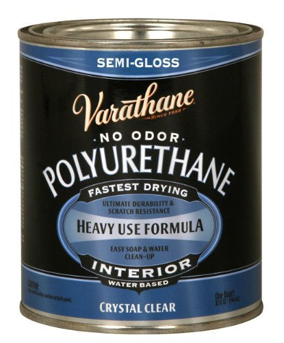 1-Quart Interior Crystal Clear Water-Based Poleurethane, Semi-Gloss Finish
