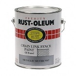 1 GALLON METALLIC SILVER CHAIN LINK PAINT