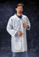 Radnor+ Large White Spunbond Polypropylene Disposable Labcoat With Snap Front Closure