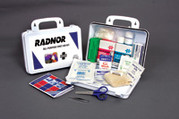 Radnor+ Water-Resistant Plastic First Aid Kit