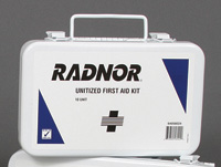 Radnor+ 10 Person Unitized First Aid Kit In Metal Case