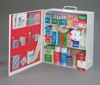 Radnor+ Empty Three-Shelf 25 Person Industrial First Aid Cabinet