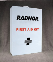 Radnor+ Empty Four-Shelf 50 Person Industrial First Aid Cabinet With Liner