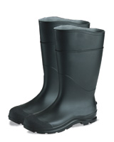 "Radnor+ Black Size 13 16"" Economy PVC Plain Toe Boot With Lug Outsole"