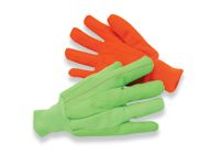 Radnor+ Large 18 Ounce Lime Green Cotton/Poly Corded Canvas Glove With Knitwrist